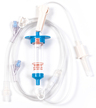 Biomedix Selec-3 Multiple Drop IV Set with 2 Luer-activated Y-Sites, Spin Lock and Pinch Clamp 81""