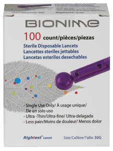 Veridian<sup>®</sup> Bionime Lancets