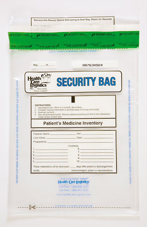 Patient Medication Inventory Bag