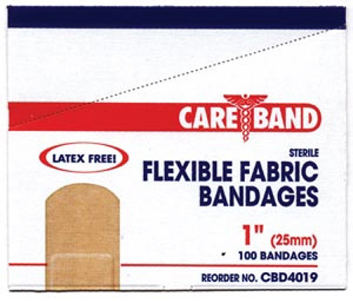 "CareBand Flexible Bandage Adhesive Strips, Fabric, 1"" x 3"""