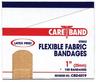 """CareBand Flexible Bandage Adhesive Strips, Fabric, 1"""" x 3"""""""