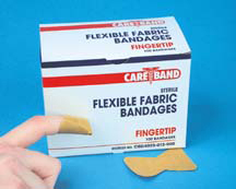 Care Band Flexible Bandage Adhesive Strips, Fabric, Fingertip
