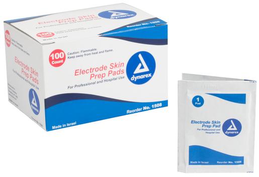 Dynarex<sup>&reg;</sup> Electrode Skin Prep Pads, 100/box