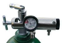 Inovo Brass Oxygen Regulators, 1 Barb, 2 Diss
