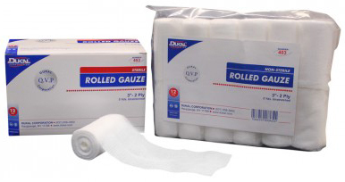 "Dukal<sup>®</sup> Rolled Gauze, Non-sterile, 3"" x 5yd"