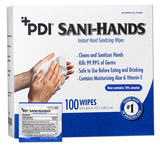 PDI Sani-Hands<sup>®</sup> Instant Hand Sanitizing Wipes, Individual Packets