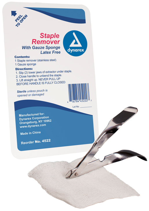 Dynarex<sup>®</sup> Staple Remover Kit with Gauze Sponge, Sterile