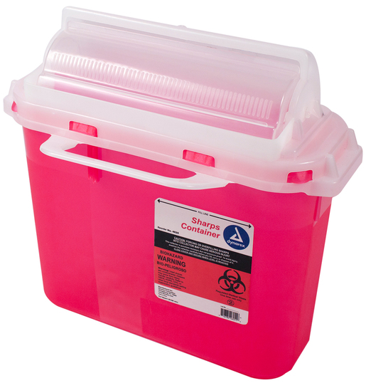 Dynarex<sup>®</sup> Sharps Containers, Mailbox Lid, 5.4qt