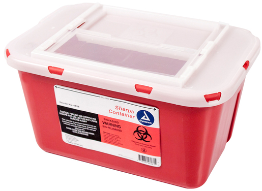 Dynarex<sup>&reg;</sup> Sharps Containers, Slide Lid, 1gal
