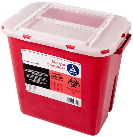 Dynarex<sup>®</sup> Sharps Containers, Slide Lid, 2gal