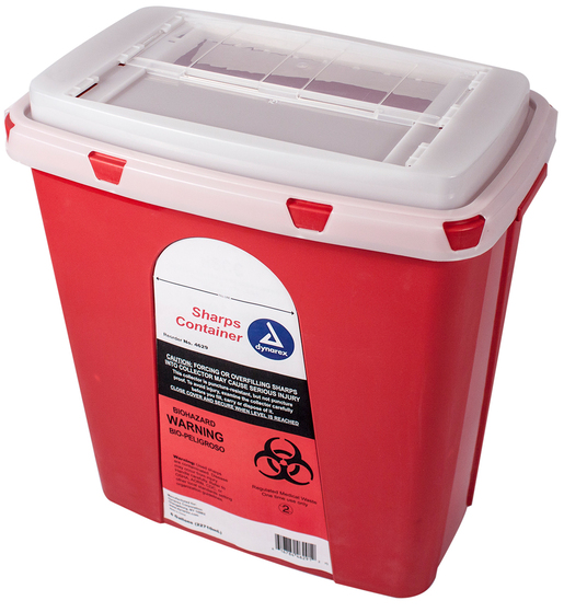 Dynarex<sup>®</sup> Sharps Containers, Slide Lid, 6gal