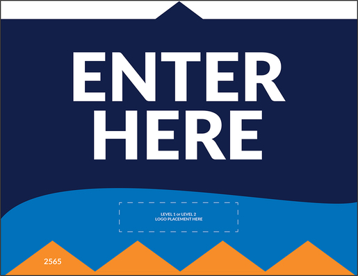 """Enter Here"" Social Distancing Wall/Door Decals, 10-pack"