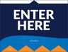 """""""Enter Here"""" Social Distancing Wall/Door Decals, 10-pack"""