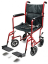 Graham-Field<sup>™</sup> Lightweight Aluminum Transport Wheelchair, Red
