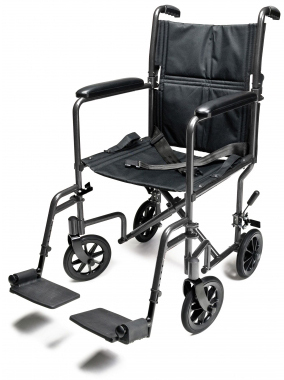 Graham-Field<sup>™</sup> Lightweight Aluminum Transport Wheelchair, Black