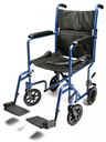 Graham-Field<sup>™</sup> Lightweight Aluminum Transport Wheelchair, Blue