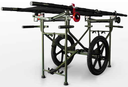 FareTec Wheeled Patient Transport Cart