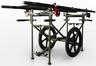 FareTec Wheeled Patient Transport Cart, Black