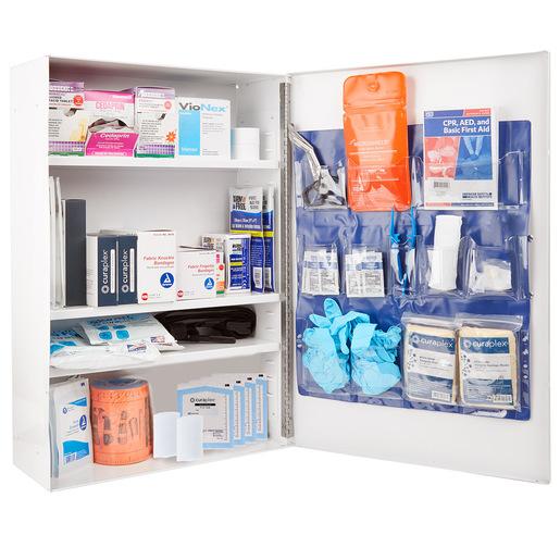 Curaplex<sup>®</sup> 4-Shelf First Aid Wall Cabinet, 795-piece