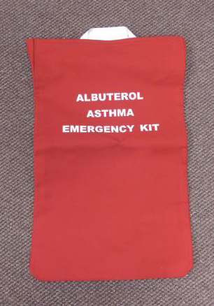 Allergy Emergency Kit<sup>™</sup> Storage Panel Wall Unit Kit for 20 Asthma Inhalers, Signage and Bag Included