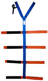 EP&R Spider-Loop Strap with Loop-lock System and Spider Straps, Polypropylene, Blue/Orange Velcro