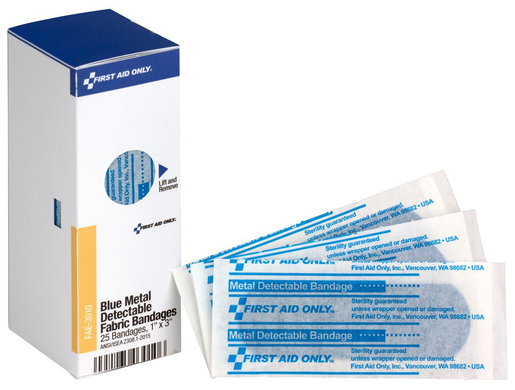 First Aid Only<sup>®</sup> Visible Bandages, Blue