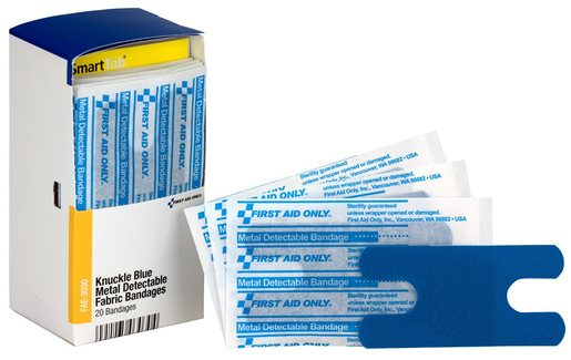 First Aid Only<sup>®</sup> Visible Bandages, Blue, Knuckle