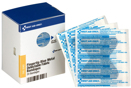First Aid Only<sup>&reg;</sup> Visible Bandages, Blue, Fingertip
