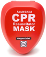 CPR Resuscitator Mask, Adult/Pediatric, Hard Case with Clip