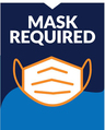 """Face Mask Required"" Social Distancing Wall/Door Decals, 10-pack"