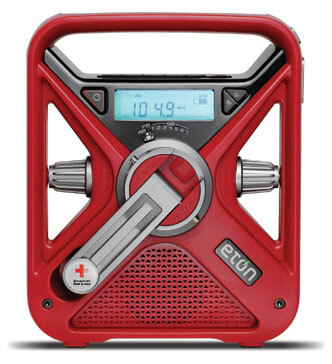 American Red Cross<sup>®</sup> Hand Turbine FRX3 Weather Radio with Flashlight, Arc Version