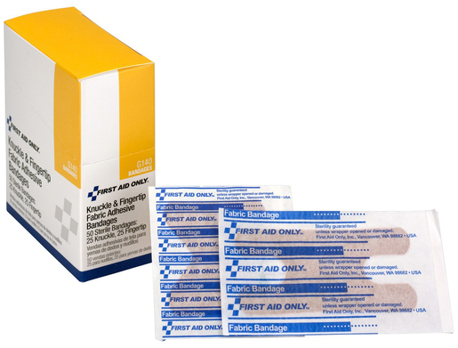 First Aid Only<sup>®</sup> Adhesive Bandages, Fabric, Knuckle and Fingertip