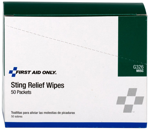 First Aid Only<sup>®</sup> Insect Sting Relief Wipes