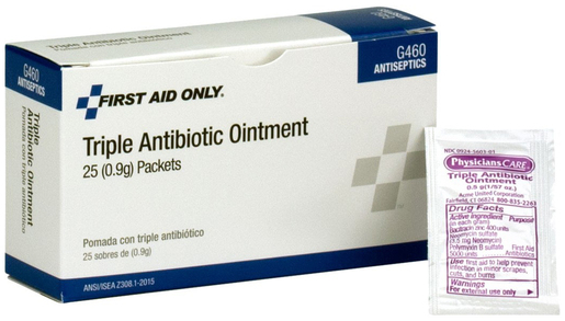 First Aid Only<sup>®</sup> Triple Antibiotic Ointment, 1/2g