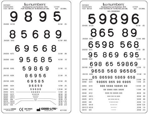 Good-Lite LEA Pocket Near Vision Cards