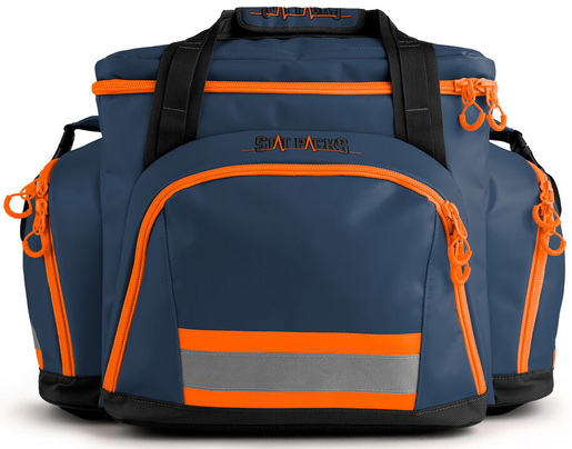 StatPacks G4 Retro Shoulder Pack, Small, Blue/Orange
