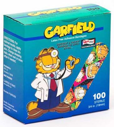 "Garfield Adhesive Bandages, 3/4"" x 3"""