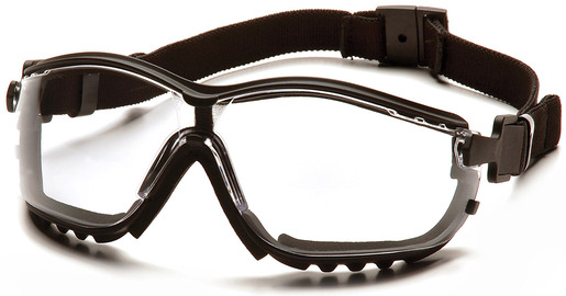Pyramex<sup>®</sup> V2G Safety Goggles, Black Frame, Clear Anti-fog Lens