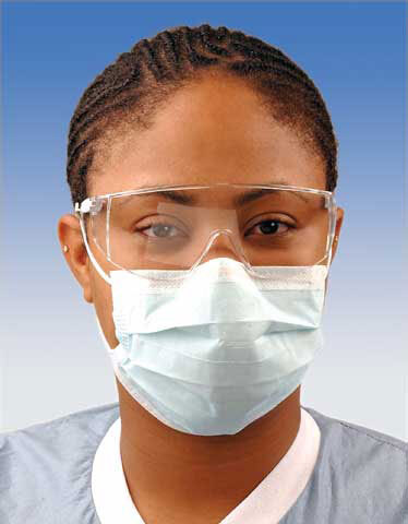 Crosstex Advantage<sup>™</sup> Earloop Surgical Mask, Blue