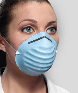 Crosstex Surgical Molded Face Masks, Blue