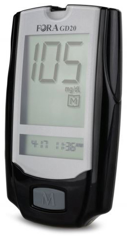 Links Medical ForaCare<sup>®</sup> GD20 Blood Glucose Meter, Black