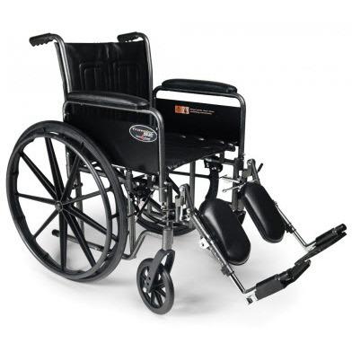 Traveler SE Wheelchair, 18in x16in, Fixed Full Arm, Swingaway Footrest
