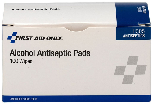 "First Aid Only<sup>®</sup> Alcohol Cleansing Pads, 1 1/4"" x 2 5/8"""