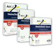ActCel<sup>&reg;</sup> Hemostatic Gauze, 4&rdquo; x 4&rdquo;