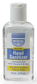 Water-Jel Hand Sanitizer Squeeze Bottle with Aloe and Vitamin E, 2oz
