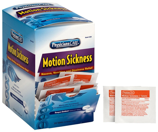 First Aid Only<sup>&reg;</sup> Motion Sickness Tablets, 2 Tablets/Packet, 125 Packets