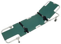 Junkin Easy-Fold Wheeled Stretcher with Adjustable Back Rest