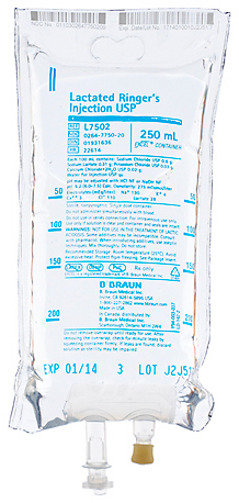 B. Braun Medical Excel IV Bags, Lactated Ringers (LR)