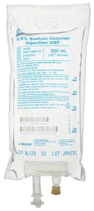 B. Braun Medical Excel IV Bags, Sodium Chloride