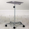 Mobile Instrument Stand with Tray, Aluminum Base